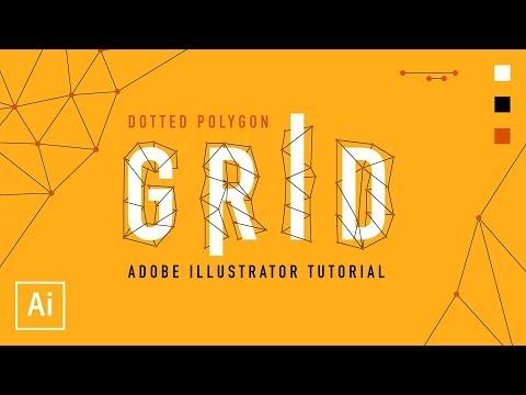 Dotted Polygon Grid - Adobe Illustrator Tutorial thumbnail