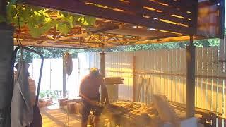 уличная русская печь с плитой под казан