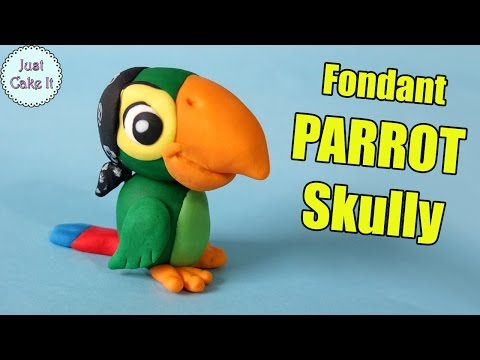 How to make fondant parrot Scully from Jake and the Never Land Pirates!