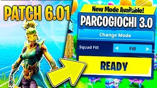 I TRY the NEW PLAY PARK and CONGELANTE TRAPPOLA - PATCH 6.01 FORTNITE SEASON 6