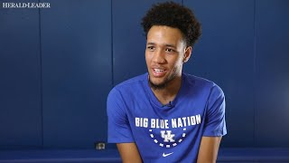 Freshman big man EJ Montgomery, who sat out most of Kentucky's exhi...