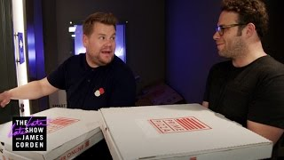 Mystery Pizza Box w/ Seth Rogen & Dominic Cooper by : The Late Late Show with James Corden