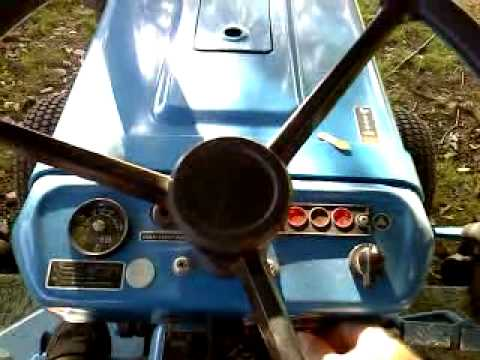 Ford 1210 Compact Tractor Summer Cold Start YouTube