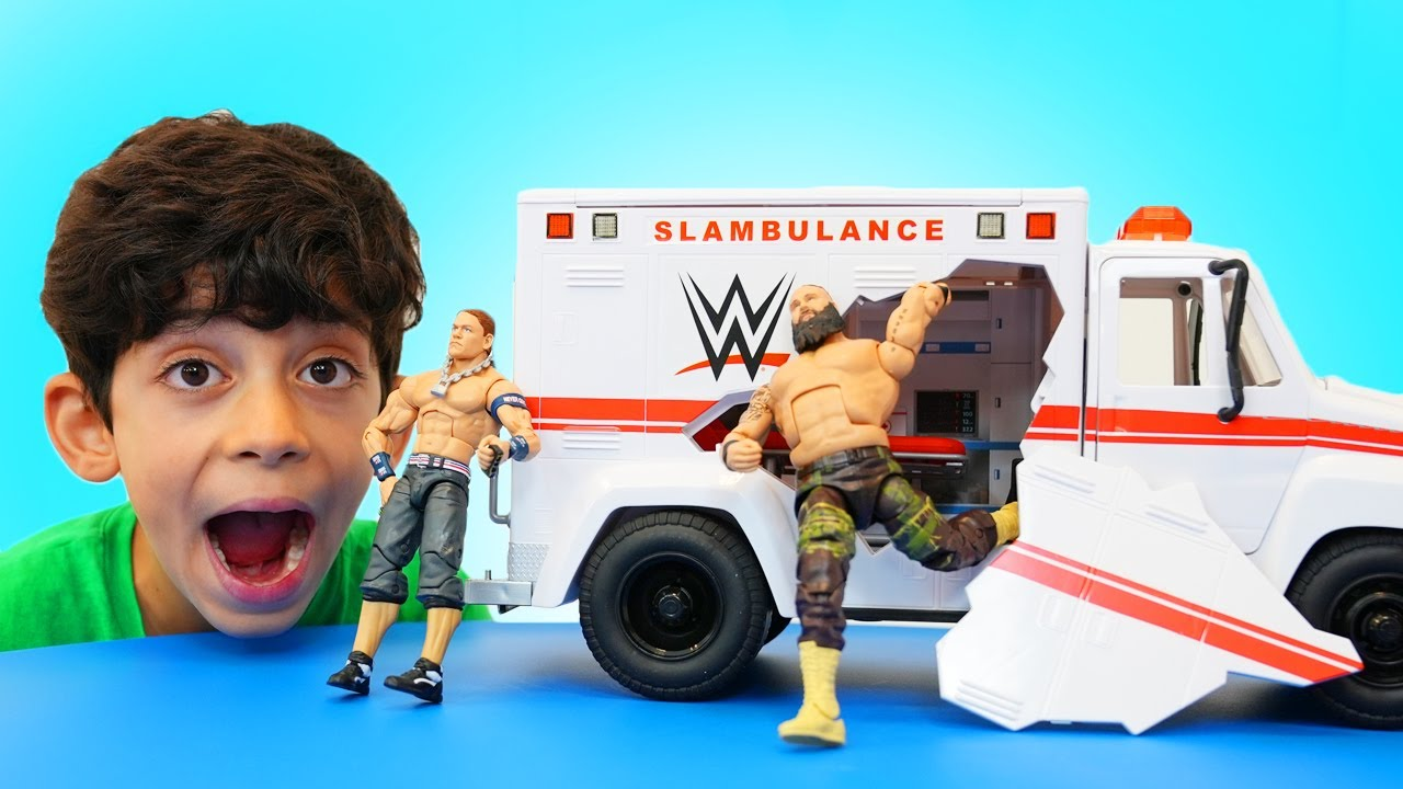 Jason plays with WWE Toys