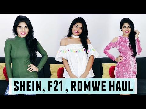 Shein, Forever 21, Romwe Haul + Coupon Code | Dhwani Bhatt