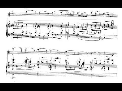 Olivier Messiaen - Theme and Variations for Violin and Piano (1932) [Score-Video]