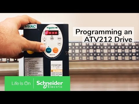Programming an ATV212 Drive for 2 Wire Control & VIA as Speed Reference | Schneider Electric Support