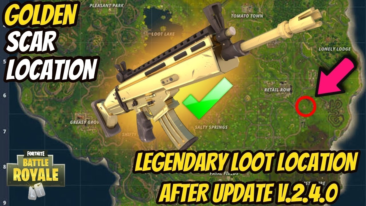 Scar Location In Fortnite How To Get A Every Time Battle Royale