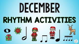 Elementary Music December Rhythm Activity