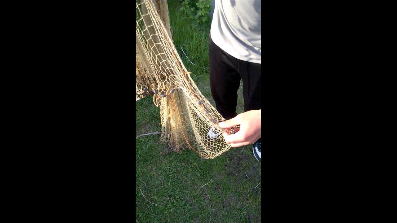 Плетение сети (классический способ) - YouTube