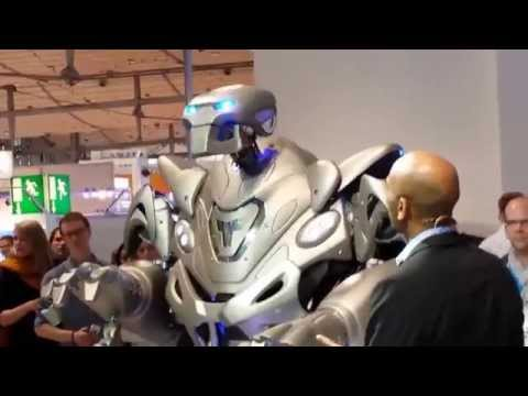 Hannover Messe Germany. Titan Robot. Hannover trade fair