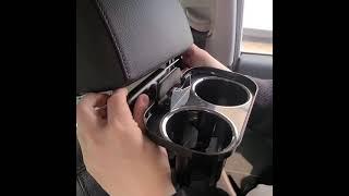 시크릿 송풍구 헤드레스트 트윈 컵홀더 휴대폰 거치대