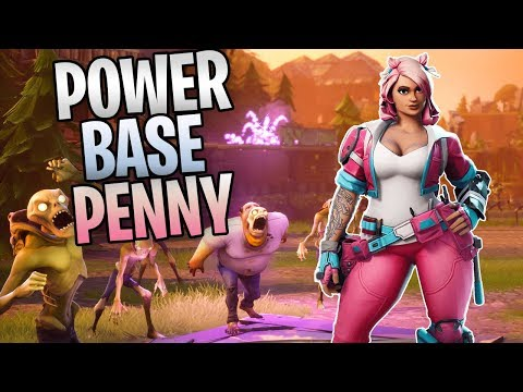 FORTNITE - Power Base Penny Save The World Gameplay  (Best Constructor Base In The Game)