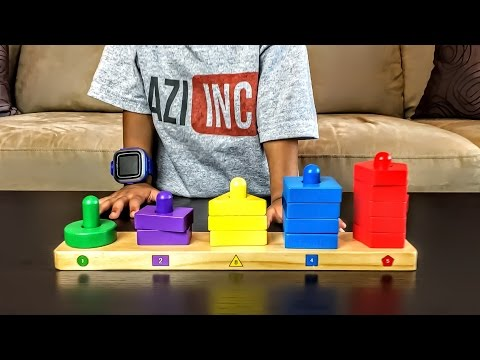 Learning Colors, Shapes and Counting Numbers for Toddlers and Preschool Children.