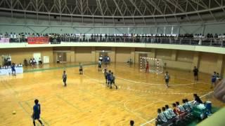 2012全国高校総体ハンドボール 近江兄弟社vs湯沢 1/4