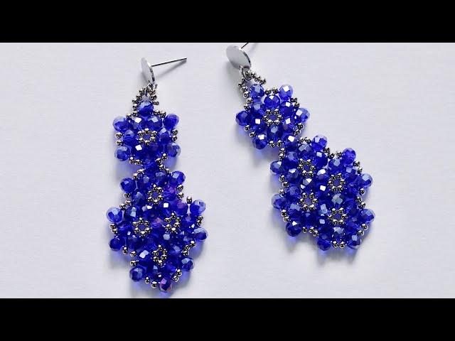 Falling Flower Earrings - How To Make Beaded Earrings