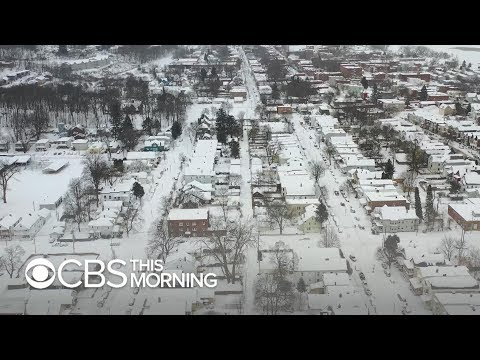 Deep freeze left behind by deadly winter storm in Midwest, Northeast