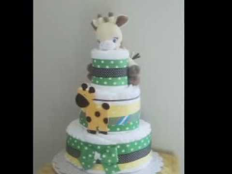 Unique Diaper Cakes: Baby Shower Gift Ideas   YouTube