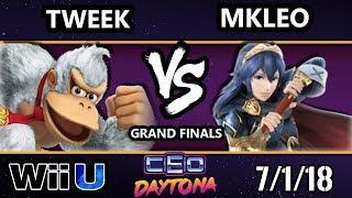 CEO 2018 Smash 4 - Echo Fox | MkLeo (Lucina, Bayo, Marth) Vs. Tweek (DK, Bayo) Wii U - Grand Finals