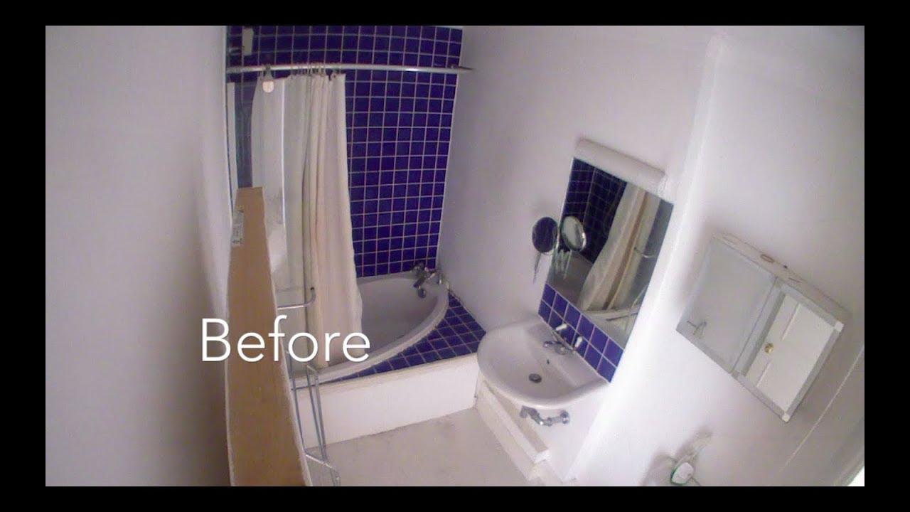 Full Bathroom Renovation Timelapse In Seconds Before After - Bathroom renovation time