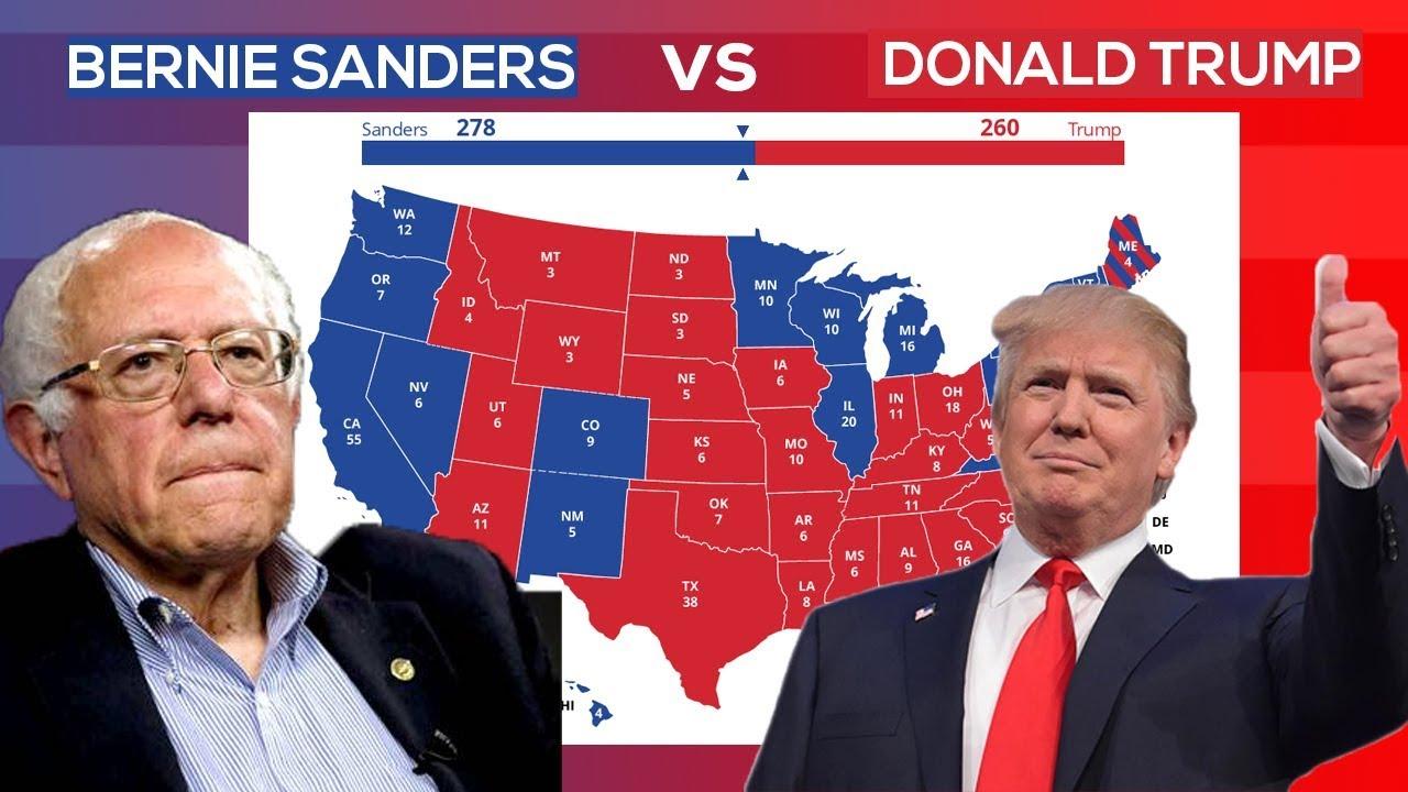 bernie sanders  donald trump  election  accurate prediction youtube