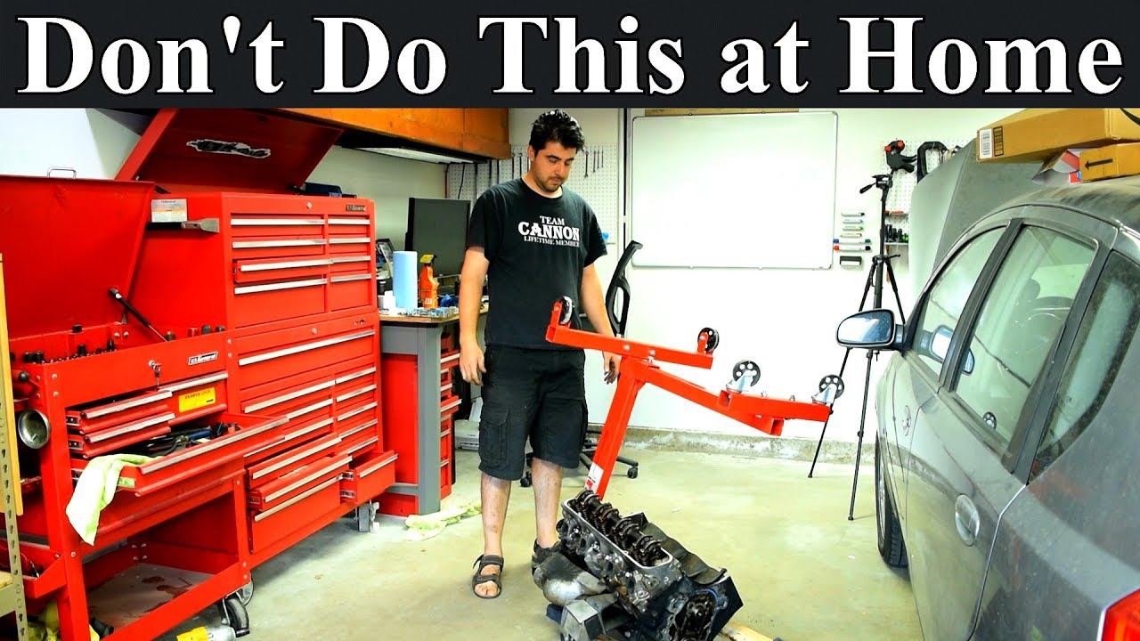 medium resolution of how not to install an engine on an engine stand