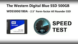 The WD Blue 500GB 2.5 7mm SSD Speed Test with BlackMagic - WDS500G1B0A