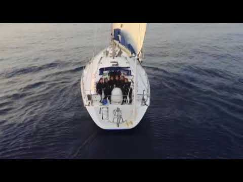 20 May, 2018 - India's all-women global circumnavigation team enters in Indian waters
