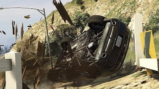 GTA 5 INSANE CAR CRASHES COMPILATION!!!