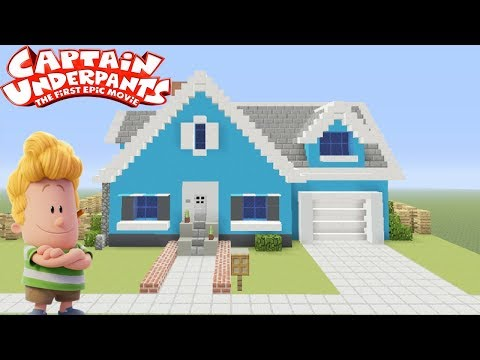 """Minecraft Tutorial: How To Make Harolds House """"Captain Underpants"""""""