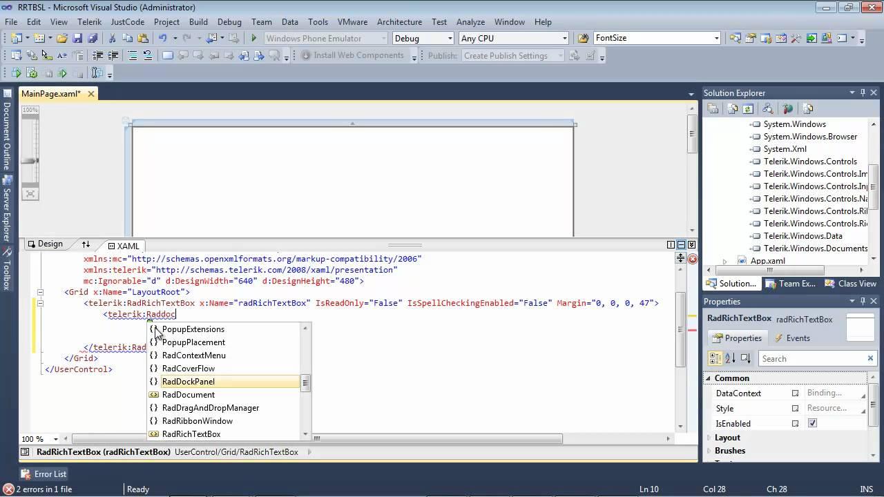 RichTextbox - Part 1: Getting Started (Silverlight & WPF)