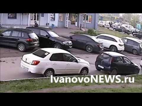 Иваново Запись с камеры как поджигают автомобиль