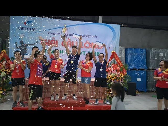 Hội thao cầu lông chào mừng 14 năm thành lập công ty việt thái