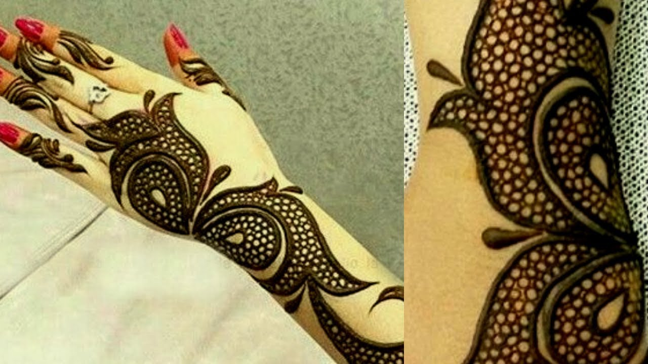 Simple Dot Arabic Mehndi Design Latest Arabic Mehndi Design 2018