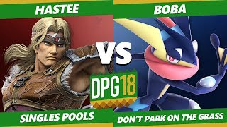 Smash Ultimate Tournament - Hastee (Simon) Vs. UWeeB | Boba (Greninja) DPOTG18 SSBU Pools