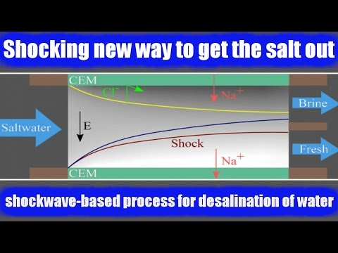 MIT team invents efficient shockwave-based process for desalination of water.