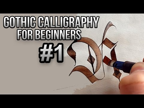Gothic calligraphy for beginners #1(A,B,C)