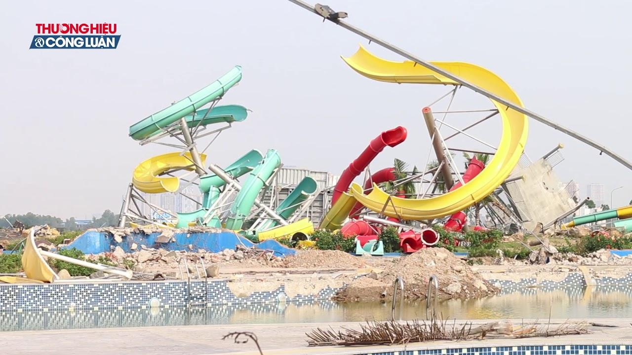 Hà Nội: Cận cảnh hiện trường Công viên nước Thanh Hà bị phá dỡ