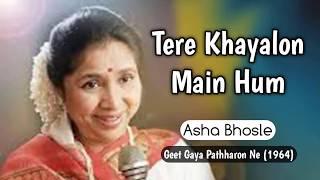 Tere Khayalon Mein Hum    Asha Bhosle     Geet Gaya Patharonne (1964)