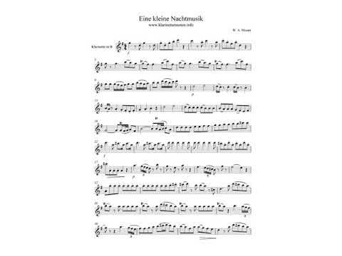Eine kleine Nachtmusik  Klarinette +Piano