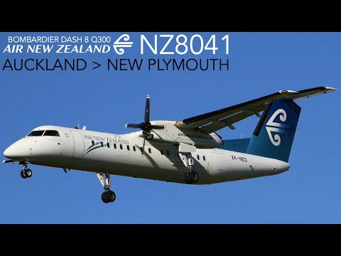 Air New Zealand NZ8041 : Flying From Auckland To New Plymouth