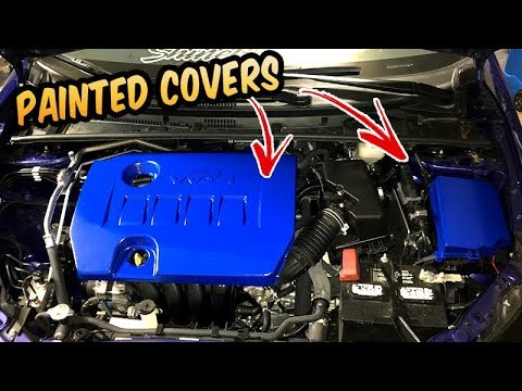 paint engine cover  toyota corolla se youtube