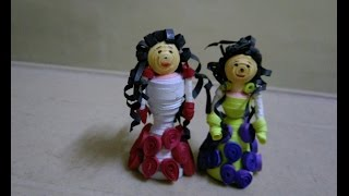 How to make quilling doll.