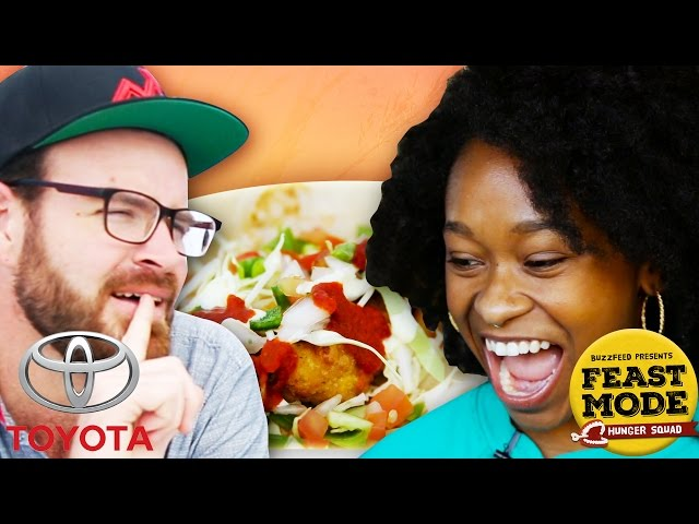 Battle Of Iconic American Dishes: Feast Mode Hunger Squad // Sponsored By Toyota Rav4 Hybrid