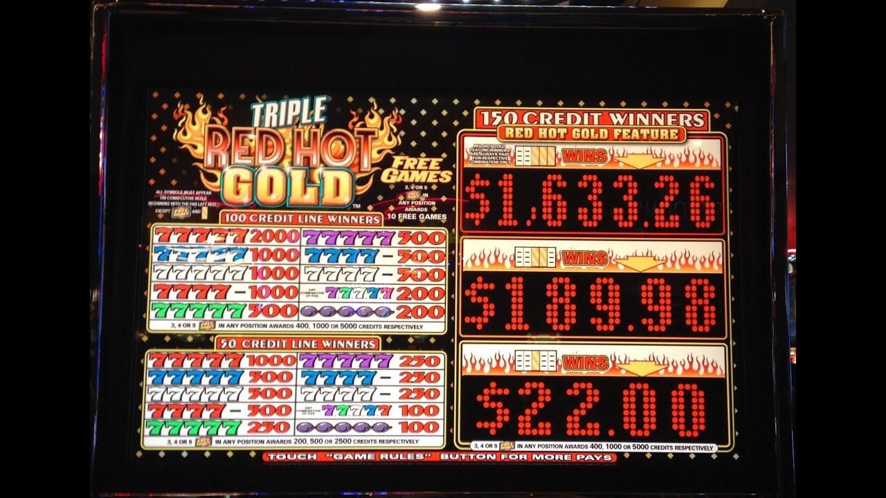 Red Hot Progressive Slot Machine