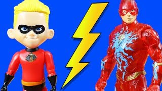 Incredibles 2 Family Dash & Flash Rescue Baby Jack Jack And Get Power Rings ! Superhero Toys