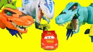 Jurassic World Hero Mashers Dinosaurs with Disney Pixar Cars Lightning McQueen Mater