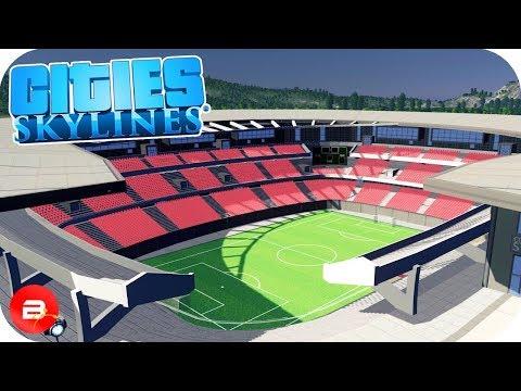 Cities: Skylines - Collosal Stadium & Custom Parking Ep9
