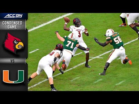 Louisville Vs. Miami Condensed Game   ACC Football 2019-20