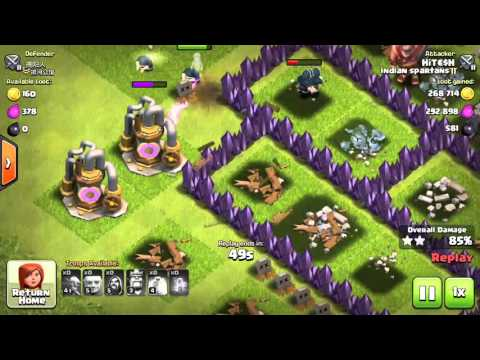 Best attacks of Clash of Clan 2016 New Flash Game